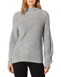 William Rast Robbin Oversize Mock Neck Sweater - Gray