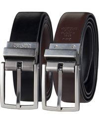 Kenneth Cole Reaction Mens Reversible Comfort Stretch Casual Apparel Belts - Black