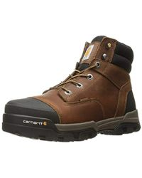 Carhartt - 6 Ground Force Waterproof Non-safety Toe Work Boot (brown Oil Tanned Leather) Men's Work Lace-up Boots - Lyst