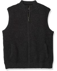 Pendleton Shetland Zip Vest Sweater - Black
