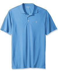 Izod Big Golf Champion Grid Short Sleeve Solid Polo - Blue