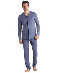 Hanro - Narius Long Sleeve Button Front Pajama Set, - Lyst