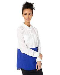Calvin Klein Color Block Button Down Tunic - Multicolor