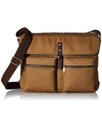 Fossil - Buckner Laptop Messenger Bag, Brown, One Size - Lyst