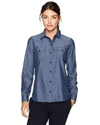 Lacoste - Chambray Shirt With 2 Pockets - Lyst
