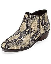 5cc4faef6 Lyst - Sam Edelman Petty Low Tapestry Ankle Bootie in Black