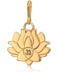 ALEX AND ANI Lotus Peace Petals Charm 14kt Gold Plated - Metallic