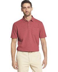 Izod Saltwater Dockside Short Sleeve Slub Solid Polo - Pink