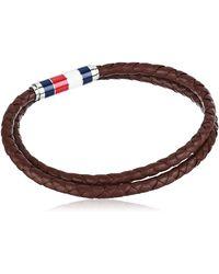 Tommy Hilfiger Jewelry Leather Double Wrap Bracelet - Brown