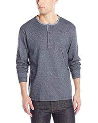 Pendleton - Long Sleeve Henley Light Indigo Shirt - Lyst
