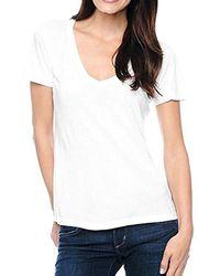 Splendid - Jersey Short-sleeve V-neck T-shirt - Lyst