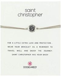 Dogeared - St. Christopher On Pebble Cord Necklace - Lyst