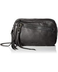 Linea Pelle - Wyatt Triple Zip Cross-body, Black - Lyst