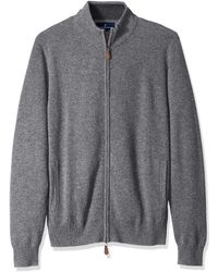 Buttoned Down Cashmere Full-zip - Gray