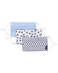 Perry Ellis Reusable Pleated Woven Fabric Face Masks - White