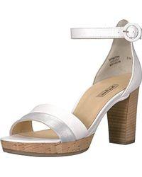 Paul Green Alegra Heel Heeled Sandal - White