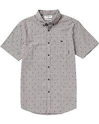 Billabong All Day Short Sleeve Woven Shirts - Gray