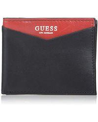 Lyst - Guess Leather Slim Bifold Wallet in Black for Men 576cb9e6af