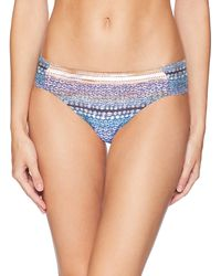 Kenneth Cole Side Shirred Hipster Bikini Swimsuit Bottom - Blue