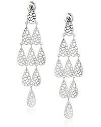 Ron Hami - Lace Sterling Silver Teardrop Drop Earrings - Lyst
