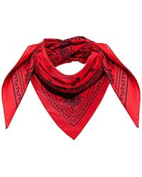 MCM Project (red) Cotton Bandana Logo Scarf, Ruby, One Size