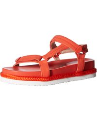 Taryn Rose Lydia Lux Stretch Flat Sandal - Red