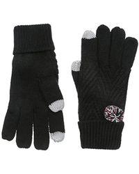 Keds Knit Gloves With Pom - Black
