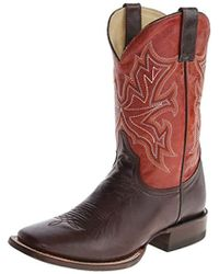 """Stetson 11"""" Shaft Double Welt Wide Square Toe Boot - Red"""