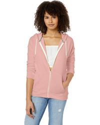 Volcom Lil Zip Up Hooded Fleece Sweatshirt - Pink