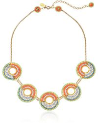 Miguel Ases Beaded Circle Necklace - Multicolor