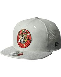 KTZ - Cap Young Bugs Bunny Perf Trick 9fifty Snapback Hat, Gray, One Size - Lyst
