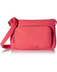 Vera Bradley - Microfiber Little Hipster Crossbody Purse With Rfid Protection - Lyst