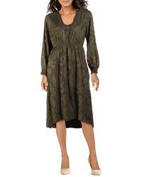 Kensie Delicate Burn-out Midi Dress - Green
