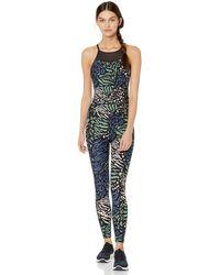 Calvin Klein Printed Halter Neck Full Length Unitard Jumpsuit - Schwarz