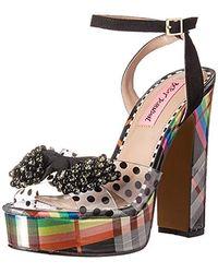 Betsey Johnson Blasie Wedge Sandal - Black