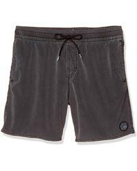 Volcom 17-inch Elastic Waist Surf Swim Trunks - Black