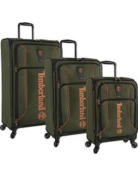 d0c3e406acf Timberland 3 Piece Hardside Spinner Luggage Set, Blue Print in Blue ...