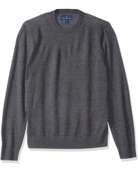 Buttoned Down Italian Merino Wool Lightweight Cashwool Crewneck - Gray