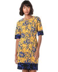 Nine West Elbow Sleeve Sheath Dress - Multicolor