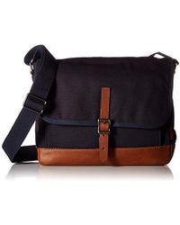 Fossil - Defender Leather East West City Bag, Dark Brown - Lyst