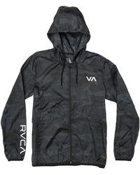 RVCA Mens Hexstop Iv Jacket Windbreaker - Black