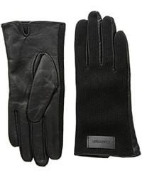 Calvin Klein Knit And Leather Gloves