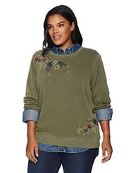 Lucky Brand - Plus Size Embroidered Flowers Sweatshirt - Lyst