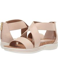 048e9063e306 Lyst - Adrienne Vittadini Chuckie Sport Flatform Sandals in Metallic