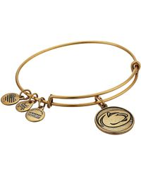 ALEX AND ANI - Pennsylvania State University Mascot Charm Bangle Bracelet - Lyst