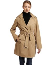 MICHAEL Michael Kors Single-breasted Trench - Natural