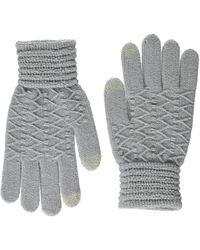 Steve Madden Lurex Zigzag Itouch Gloves - Gray