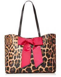 Betsey Johnson Tie The Knot Bow Leopard Tote Bag - Multicolor