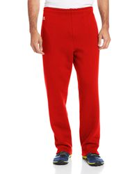 Russell Athletic Dri-power Open Bottom Sweatpants With Pockets - Red