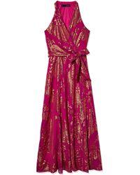 Chetta B Metallic Floral Gown - Multicolor